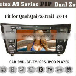 8inch HD 1080P BT TV GPS IPOD Fit for nissan qashqai/x-trial 2014 car multimedia player with gps