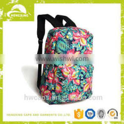 Cotton fabric fashion cheap wholesale backpack for school