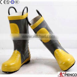 High temperature resistance construction working firefighter safety security rubber fire retardant boots