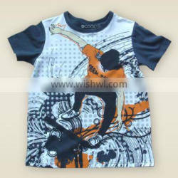 Boys summer t shirt 100% cotton Wholesale kid clothing