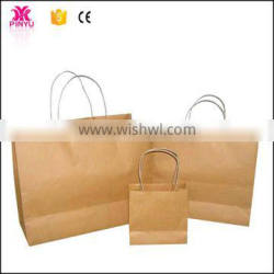 Kraft paper and handles carry food Cheap greaseproof paper bag