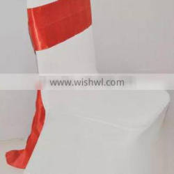 ceremonial sash,satin pageant sashes wedding chair cover at factory price