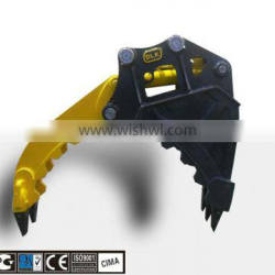 Fixed hydraulic bucket grapple for 2-3 tons carrier