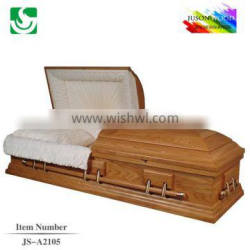 Professional funeral supply wooden export casket lowering device