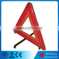3*AA battery led light triangle warning notice sign for car