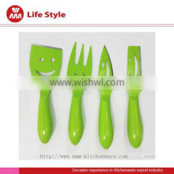 4Pc color cheese knife set wholesale cheese knife