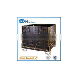 Collapsible metal steel wire mesh warehouse storage containers