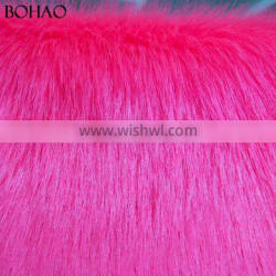 60mm Fur Height Smooth Soft Touching Knitted Textile Fake Fur Fabric