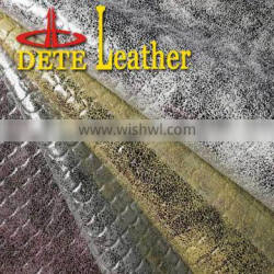 embossed materials to make sandals from China textile and leather fabric