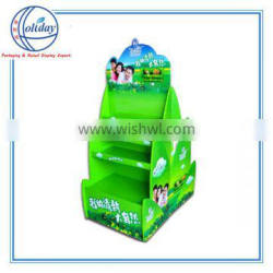 Supermarket cardboard paper floor display supplier