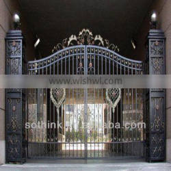 Double iron yard gate