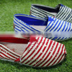 Ms fashionable striped cloth shoes