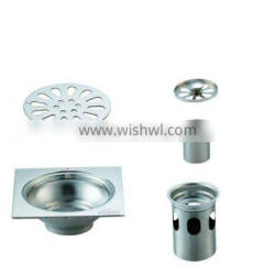 Stainless Steel Floor Drain B3107 .hot sale item,with pipe stainless steel bottom,single use
