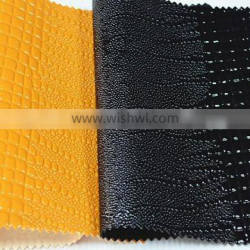 High quality emobossing abrasion resistant pu synthetic leather with large quantity in stocking stocklot pu leather for bags car