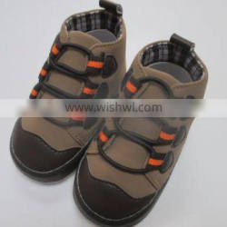 Brown lace sneaker kid walker children shoes baby shoes