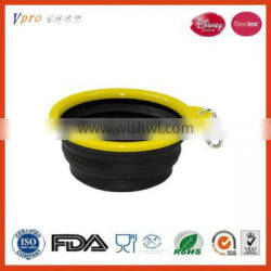 Silicone Personalized dog bowl/Collapsible Silicone pet bowl