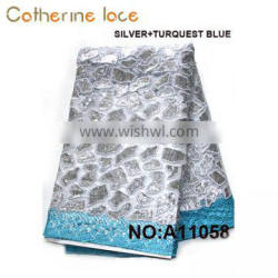 Catherine 2018 Multi Color Embroidered Guipure Lace/Cord Lace Fabric