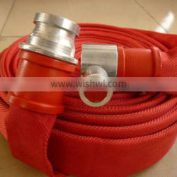 red color polyester filament fire fighting hose