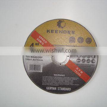 """super thin cutting wheel for metal and stainless steel in 4"""" 4.5"""" 5"""" 6"""" 7"""""""