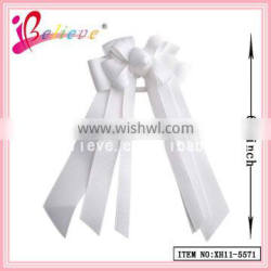 Jewellery in china cheap elastic hair ties,solid ribbon bow with elastic loop
