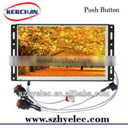 button activated 7 Inch open frame retail lcd display screen