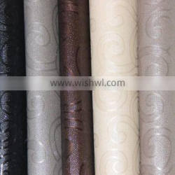 PVC leather for interior decoration with nice metallic color