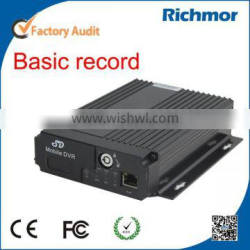 Richmor 4ch real time mobile dvr recorder 3G Car DVR with GPS google map tracking SMS Device Configure/OTA/Phone Calling