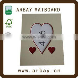Promotional Gifts custom cream paper photo frame mat board artist
