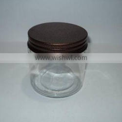SOI Hot selling Storage glass Jar with Metal Lid dollar item