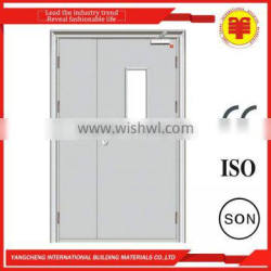 Unequal cold rolled steel leaf metal doors latest design for family flat