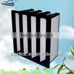 HVAC Plastic frame V Bank Hepa Filter H13