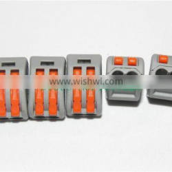 Hot sale WAGO 222-412 Universal Compact Wire Wiring Connector 2 pin Conductor Terminal Block With Lever AWG 28-122