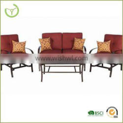 Hot sale outdoor/indoor 4pcs set sofa chair with coffee table