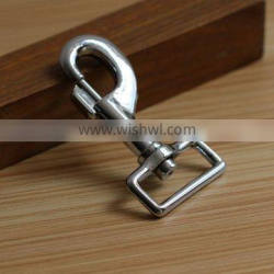 Wholesale metal swivel clasp hooks metal D ring hooks for bag handles