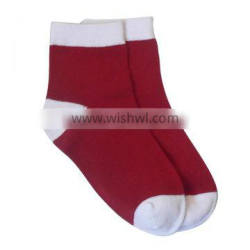 GSC-44 Alibaba wholesale high quality cotton colored toe and heel best kids socks socks