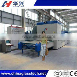 Forced Convection Heating Flat & Curved Glass Tempering Bending Line Machine
