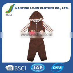 Wholesale High Quality Spring Autumn 3PCS/Set Newborn Infant Baby Boy Girl Suits Baby Clothing Sets