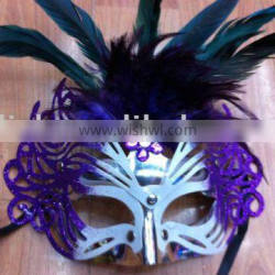 party carnival masquerade feather mask MPM-041