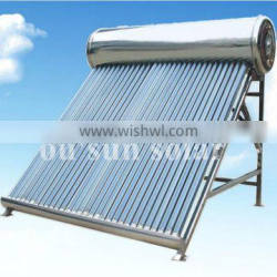 Unpressurized stainless steel solar home heater
