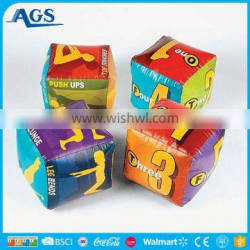 Factory educational toys inflatable dice in various colors