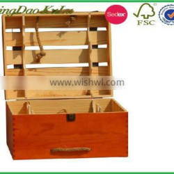 factory price cheap eco friendly pine wood wine crate