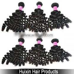 2014 6A Top quality grade 6A remy human hair clip in hair extension Baby Curly