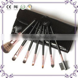 Factory price beauty 7pcs synthetic hair foundation makeup brush set with bag