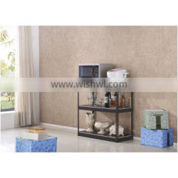 Powder coating 3 tiers living home use goods dispiay shelf