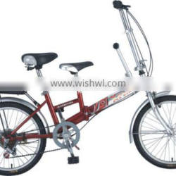 """20"""" Folding Bike hi-ten frame and fork with two seats"""