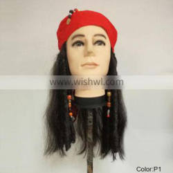 Party pirate red scarf wigs MW-010