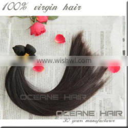 Beautiful style sample supported free shipping fast shipping large stock 100% indian hair extensions