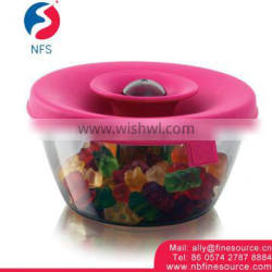 Airtight Pop-Top PP Clear Storage Food Candy Plastic Jar