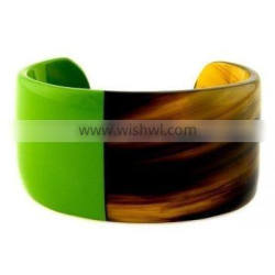 High quality best selling buffalo horn green yellow modern bracelet from Vietnam
