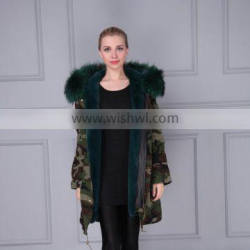 Italy Mr.and Mrs hooded big raccoon fur winter jacket men parkas and jackets Supplier's Choice